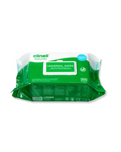 CLINELL CW200 UNIVERSAL HAND & SURFACE 200 WIPES