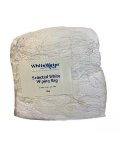 WHITE SELECTED WIPING RAGS - 10KG