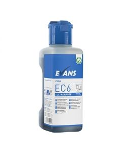 EVANS EC6 ALL PURPOSE HARD SURFACE CLEANER 1 LITRE E-DOSE RANGE