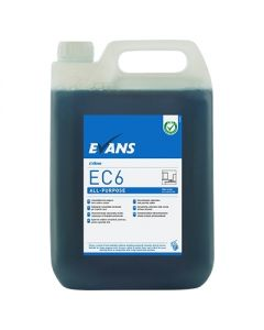 EVANS EC6 ALL PURPOSE HARD SURFACE CLEANER 5 LITRE E-DOSE RANGE