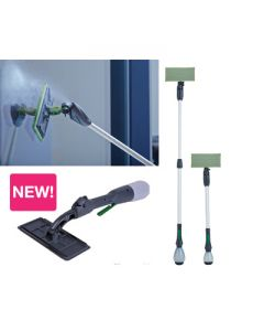 HIGH REACH GLASS CLEANING POLE SYSTEM  1.4  - 6 MTR  WITH 3 FIBRE PADS