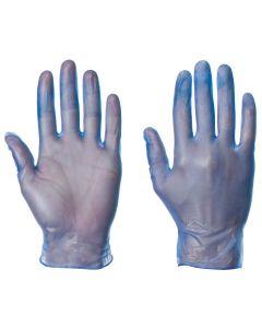 VINYL BLUE POWDER FREE  GLOVES 100 PACK