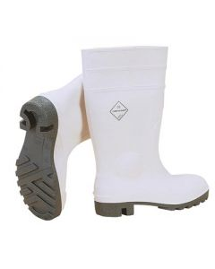 WHITE SAFETY WELLINGTONS