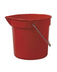 10 LTR PLASTIC BUCKET WITH POURING SPOUT RED