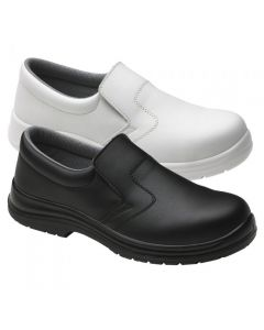 SLIP ON FOOD X ANTI-BACTERIAL BLACK / WHITE SAFETY SHOE