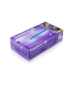 NITRILE MEDICAL POWDER-FREE TRANSFORM BLUE GLOVES 100 PACK