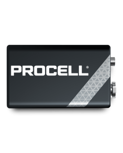 DURACELL PROCELL 9V  ALKALINE BATTERIES 1 X 10