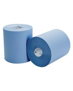 HAND TOWEL ROLL 2 PLY NORTHSHORE 580 SHEET SOFT BLUE 8 PACK