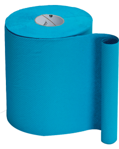 HAND TOWEL ROLL 1 PLY NORTHSHORE 48GSM 620 SHEET BLUE 6 PACK
