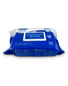 CLINELL RAW100  HAND AND SURFACE THICK HD WIPES 20X15CM